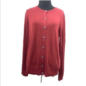 NEW CROFT & BARROW CARDIGAN ROUND NECK